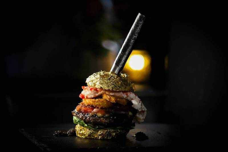 The World's Most Expensive Burger is Covered in Gold
