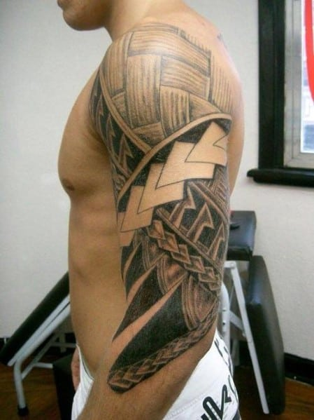Woven Design On Arm Tattoo
