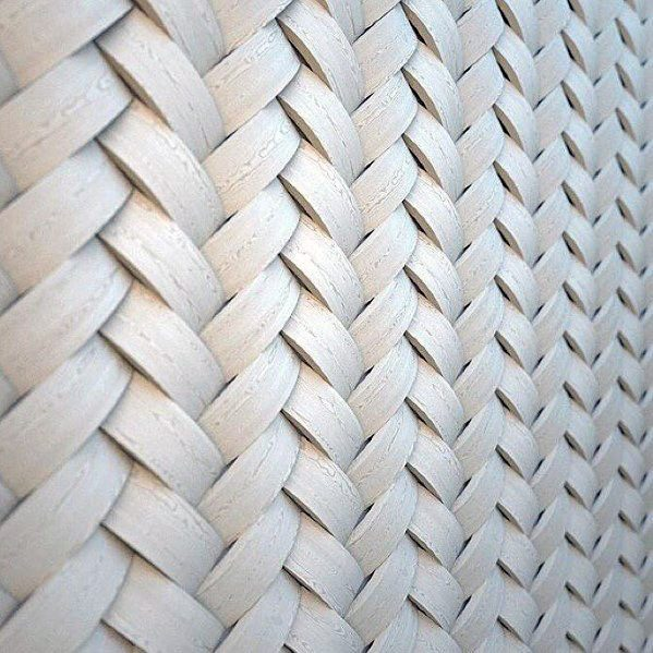 Woven Wood Interior Designs Textured Wall