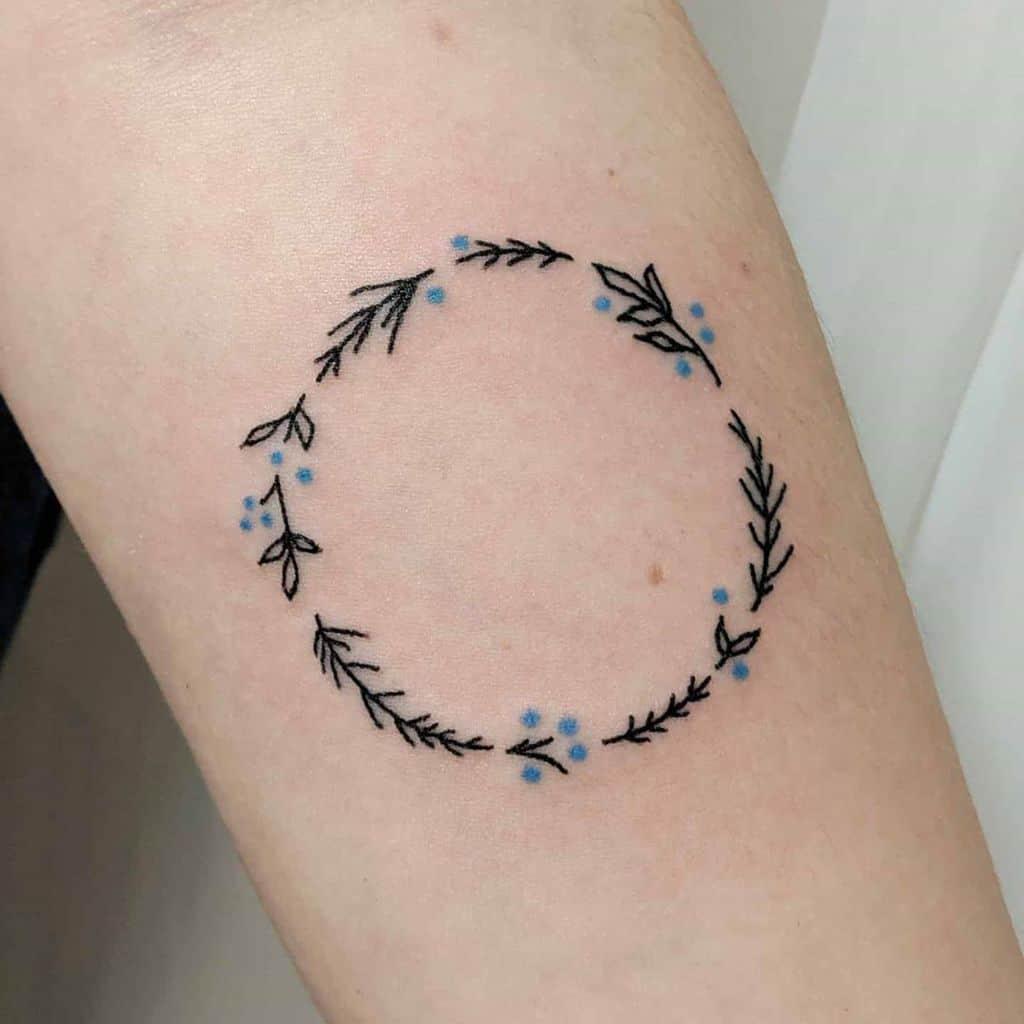 Wreath Lavander Tattoo