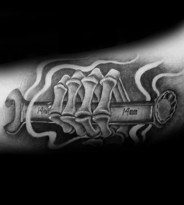 Wrench Mens Tattoo Ideas