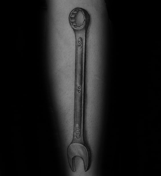 Wrench Tattoo Design Ideas For Males