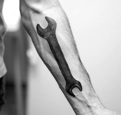 Wrench Tattoo Ideas For Gentlemen