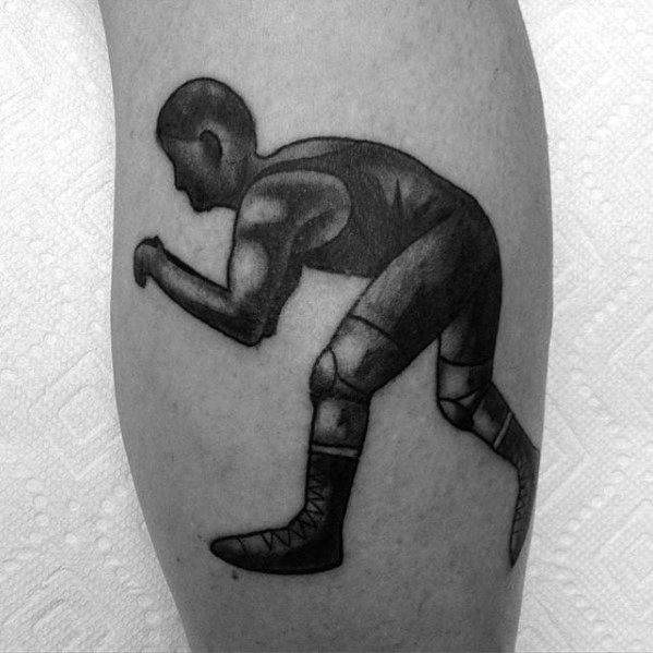 Wrestling Tattoo Designs For Guys On Leg Calf