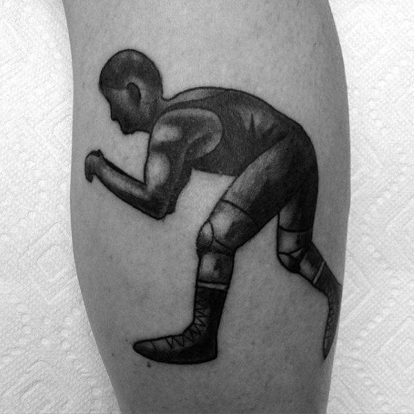 Wrestling Tattoo Designs For Guys On Leg Calf