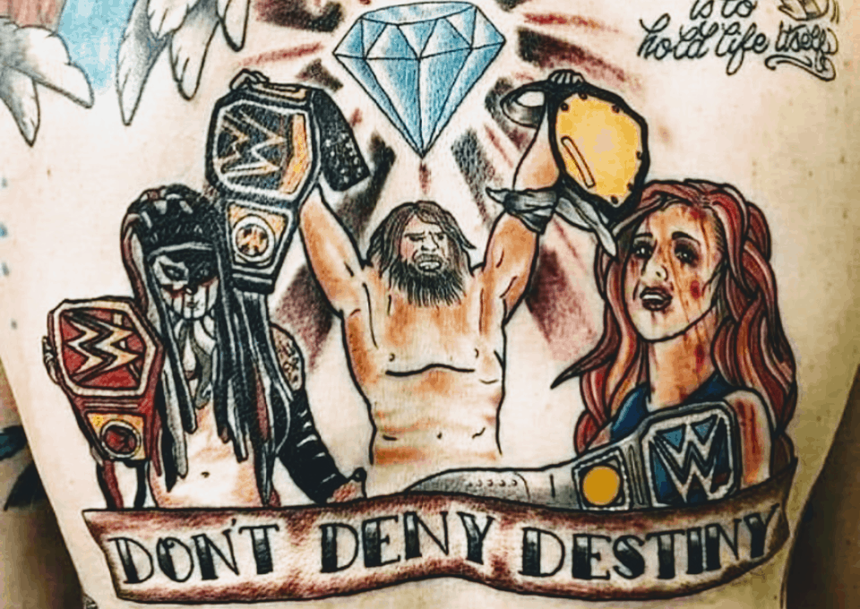 wrestling tattoo fail