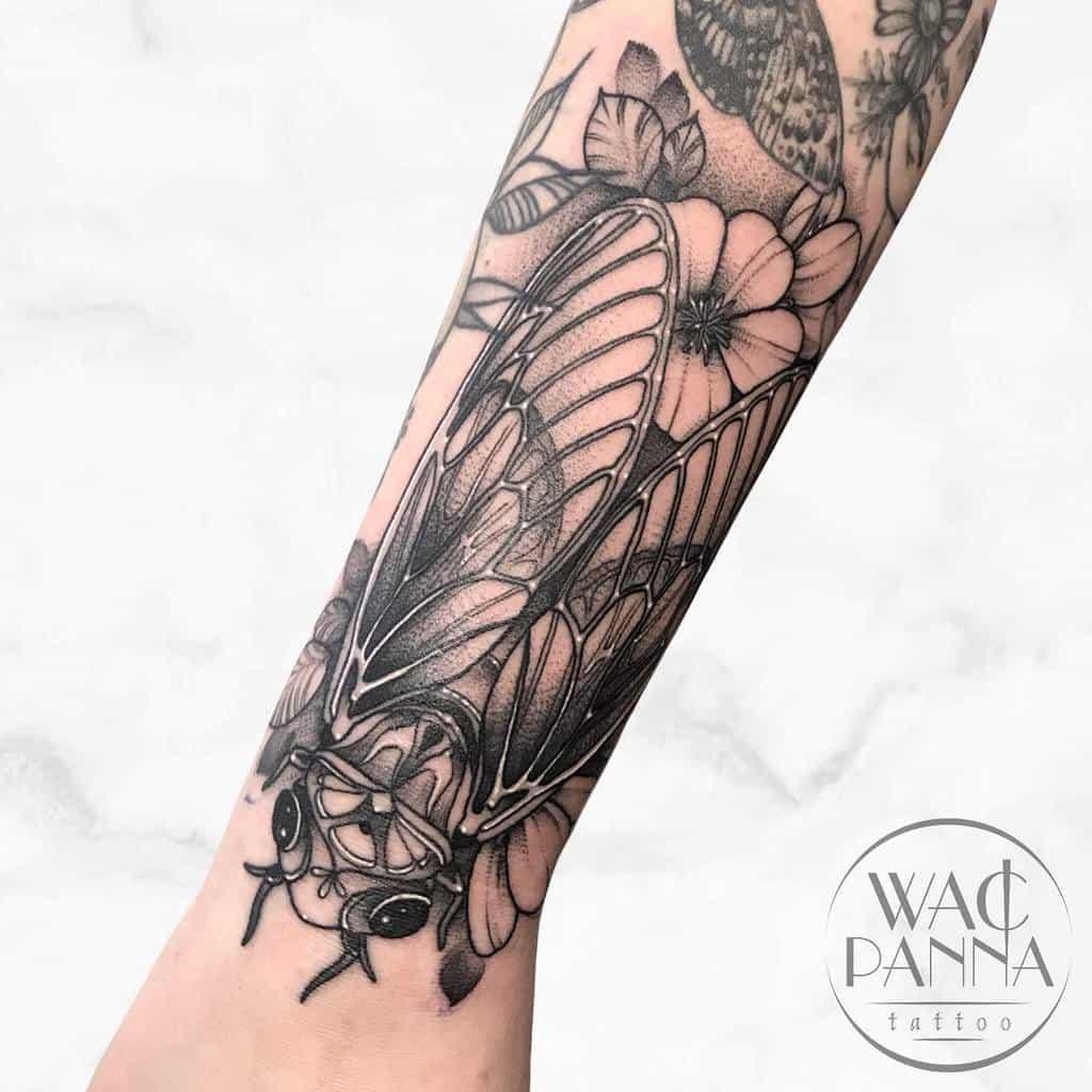 wrist Cicada Tattoos wacpannatattoo