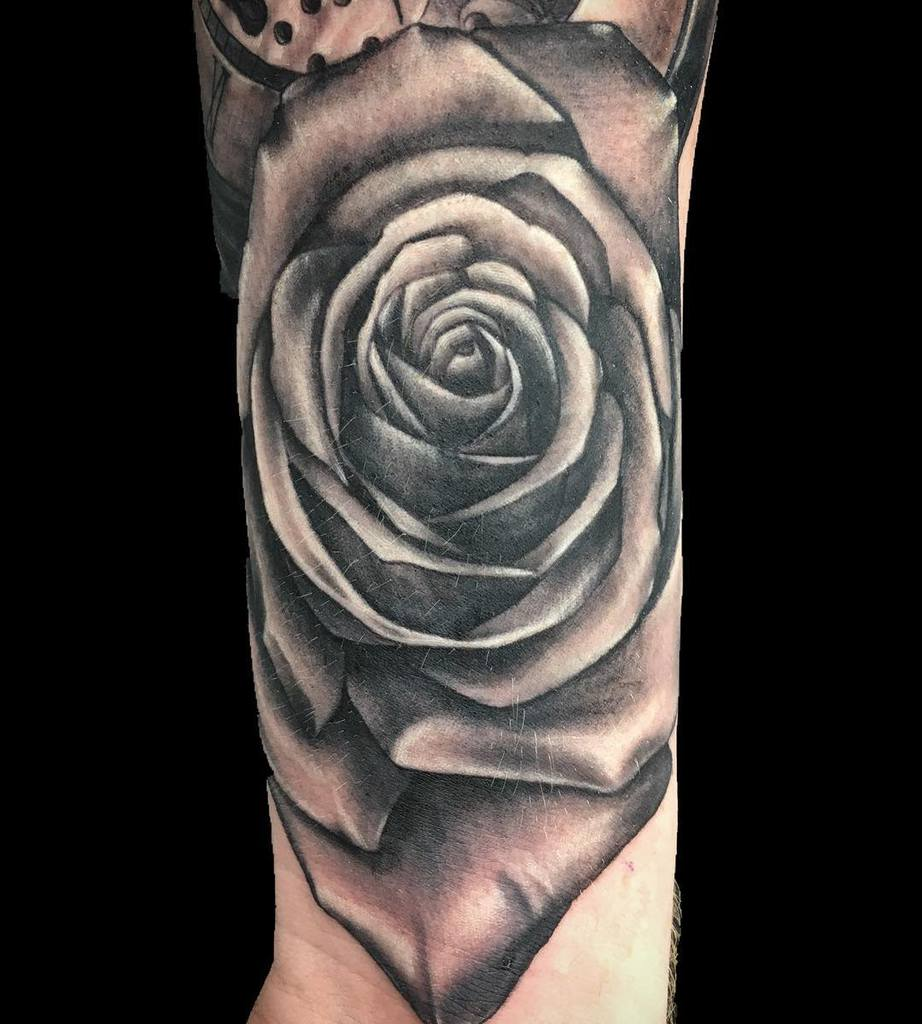 wrist black and grey rose tattoos pete_b_tattoos