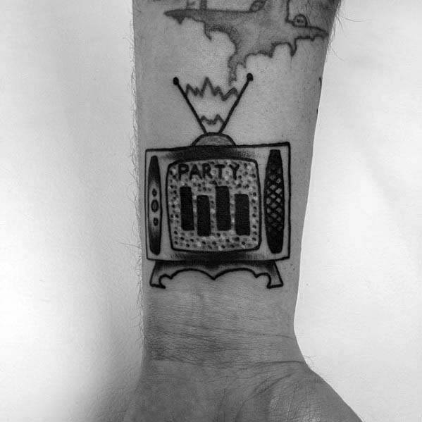 Wrist Black Flag Guys Tattoo Designs