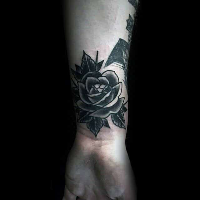 nextluxury wrist 1 black and grey rose tattoos
