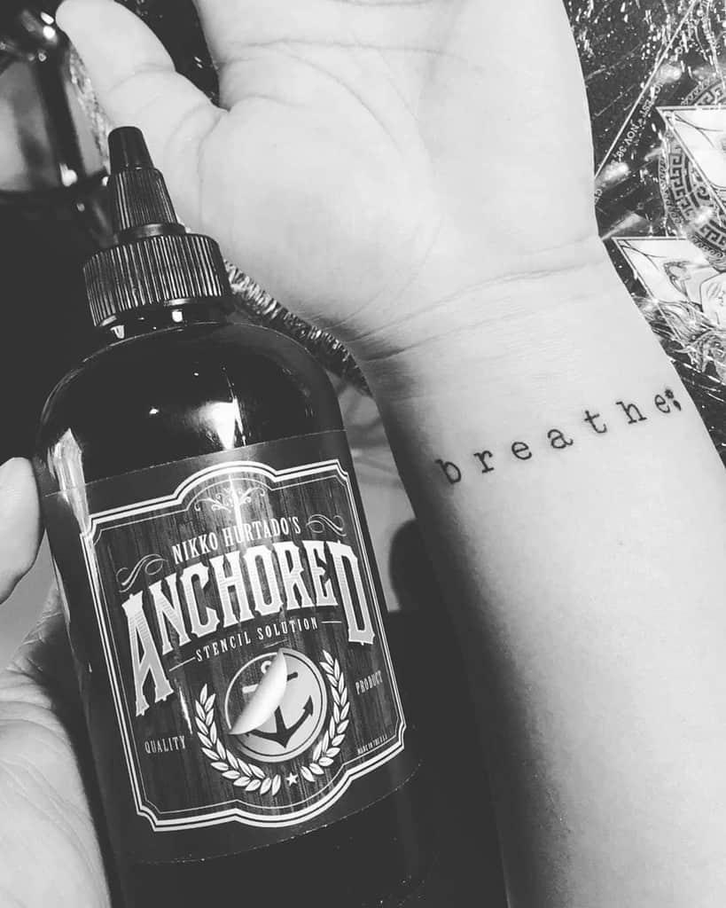 wrist breathe tattoos giedsenpai