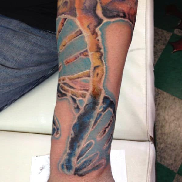 Wrist Dna Science Mens Tattoo Design