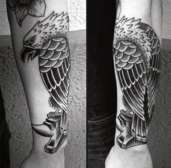 Wrist Eagle Tattoo For Men