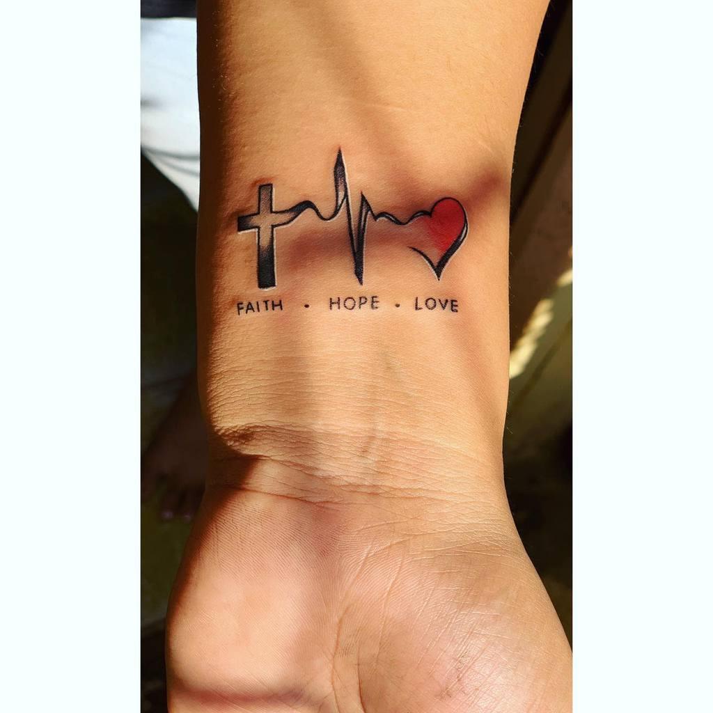 wrist faith hope love tattoos _vishalsawant_