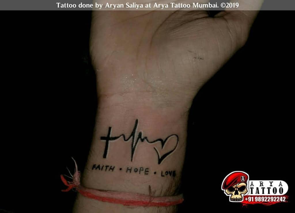 wrist faith hope love tattoos aryansaliya