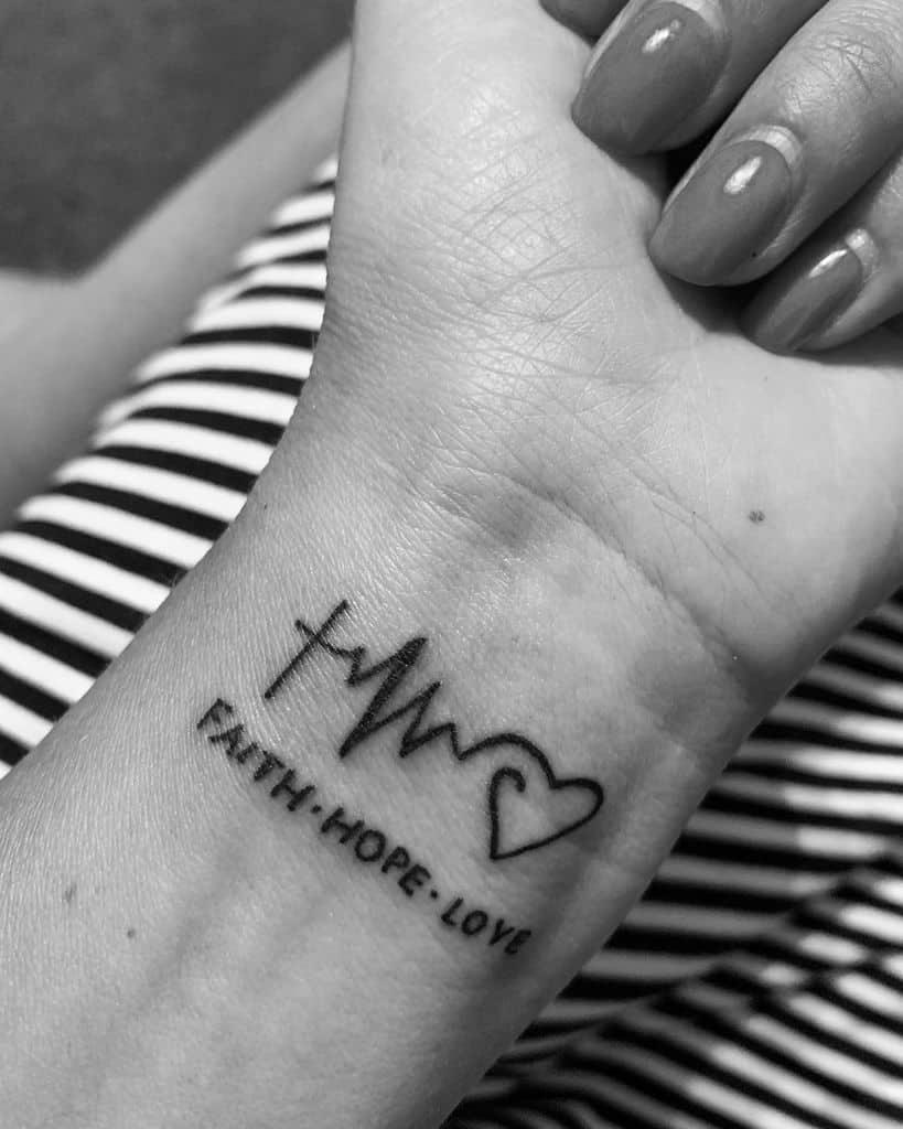 wrist faith hope love tattoos oleeessya