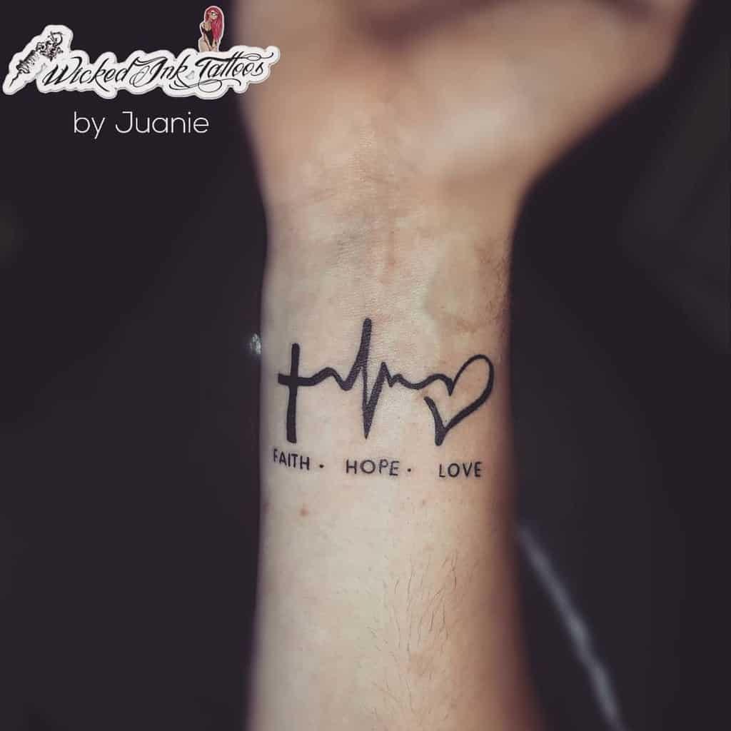 wrist faith hope love tattoos wickedinkel