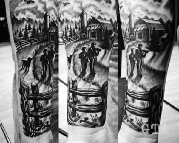 Wrist Farm Father Son Tattoos For Men