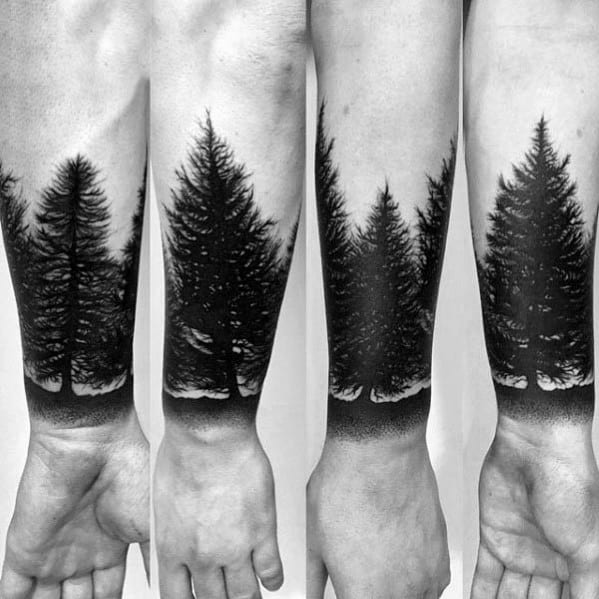 Wrist Forearm Band Excellent Guys Tree Line Tattoos
