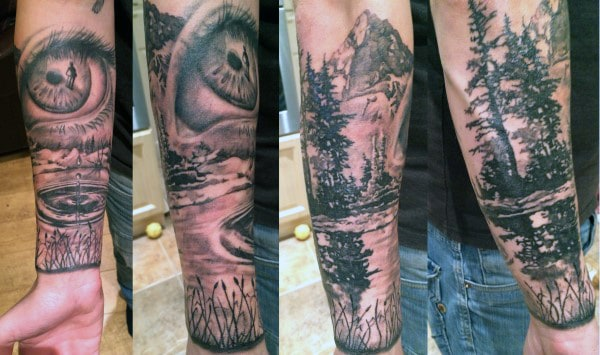 Wrist Guy's Mountain Tattoo Designs