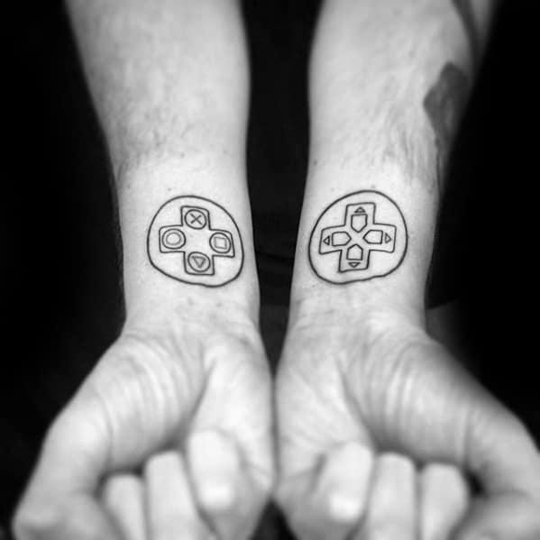 Wrist Guys Playstation Tattoo Design Ideas