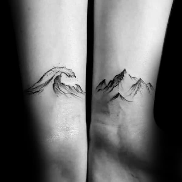 Wrist Guys Small Ocean Tattoo Inspiration