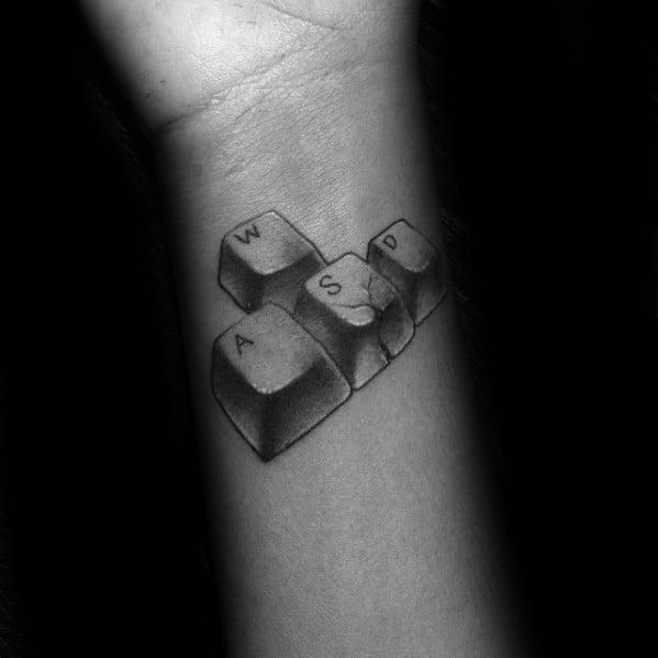Wrist Keyboard Computer Tattoos For Men