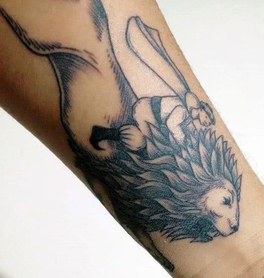 Wrist Lions Den Tattoo For Guys