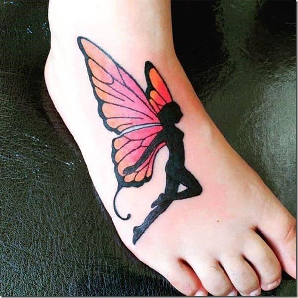 Wrist Lovely Butterfly Fairy Tattoo