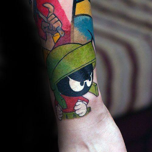 Wrist Marvin The Martian Mens Tattoo Ideas
