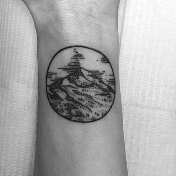 Wrist Mens Black And Grey Ink Small Nature Tattoo Ideas