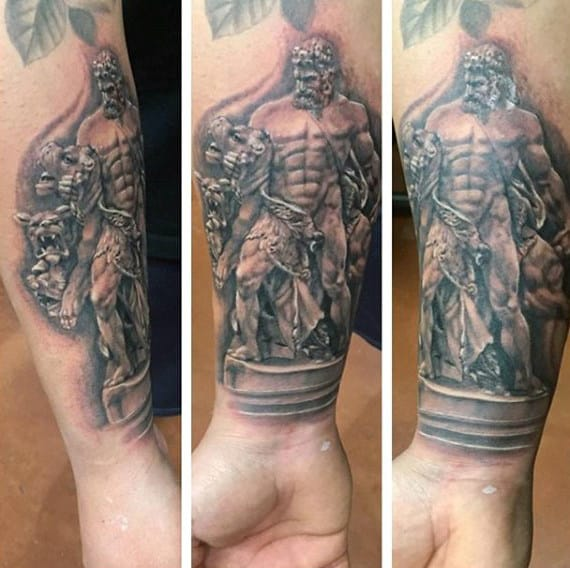 Wrist Mens Hercules Tattoo