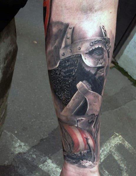 Wrist Men's Viking Symbol Tattoo