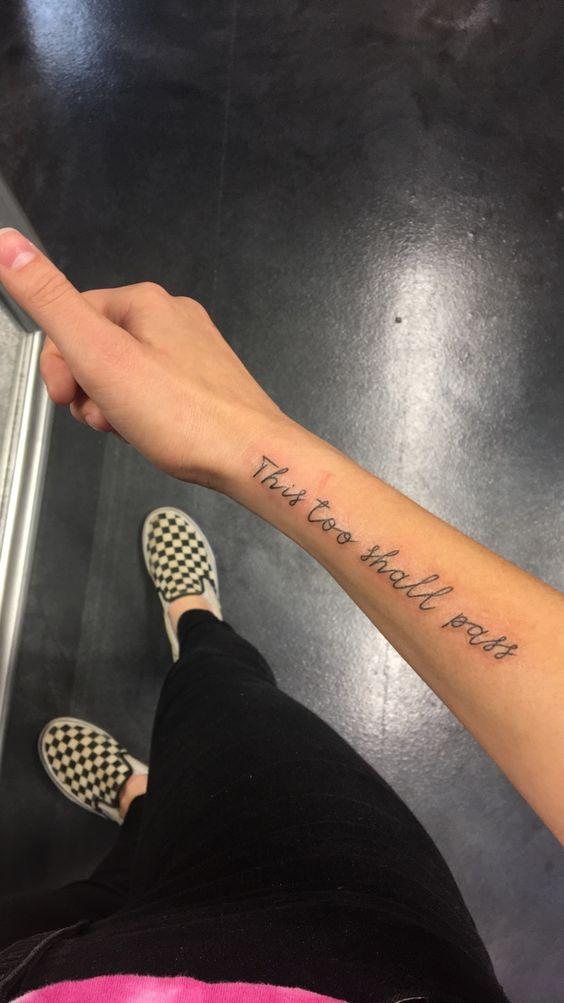 Wrist Script Tattoo