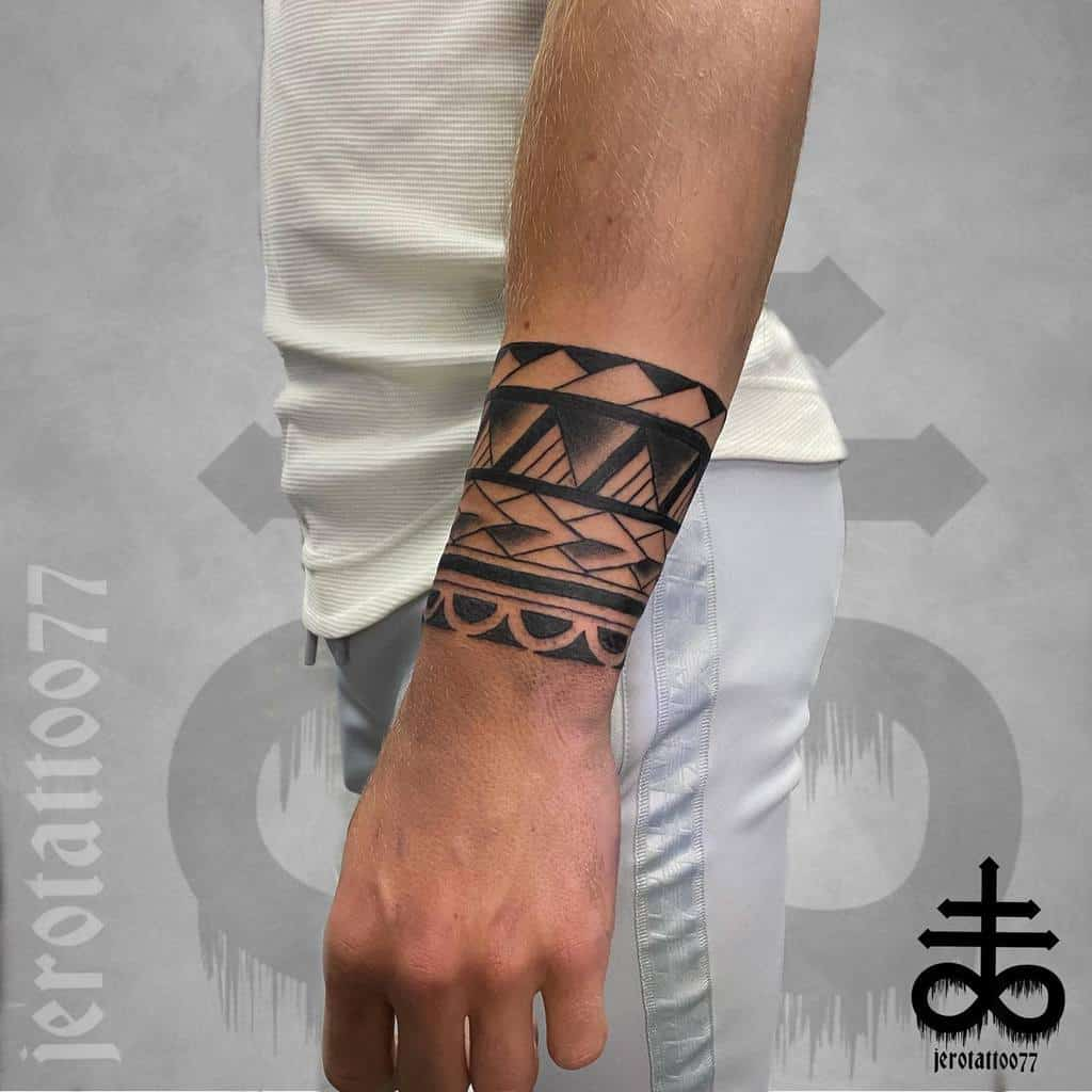 wrist simple tribal tattoos jerotattoo77