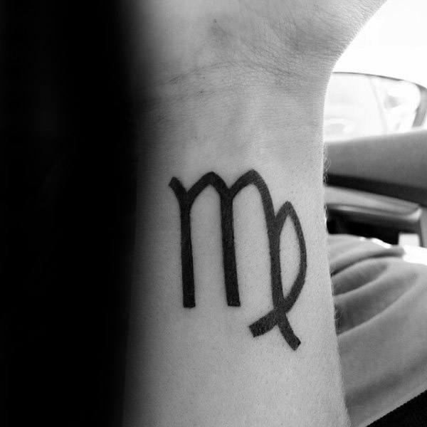 Wrist Virgo Mens Zodiac Tattoo Ideas