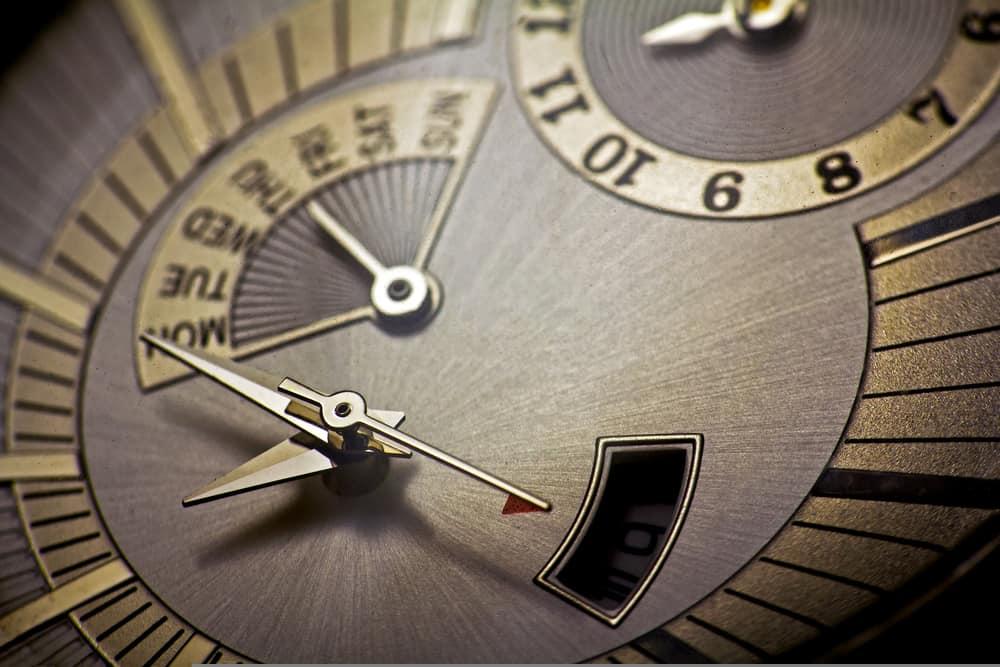 wrist watch dials macro focus