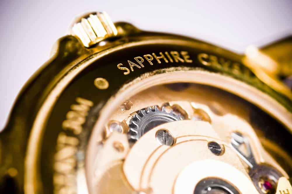 macro focus of wrist watch mechanism