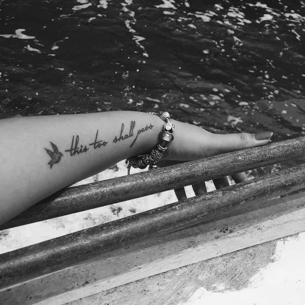 Writing Inspiration This Too Shall Pass Tattoo