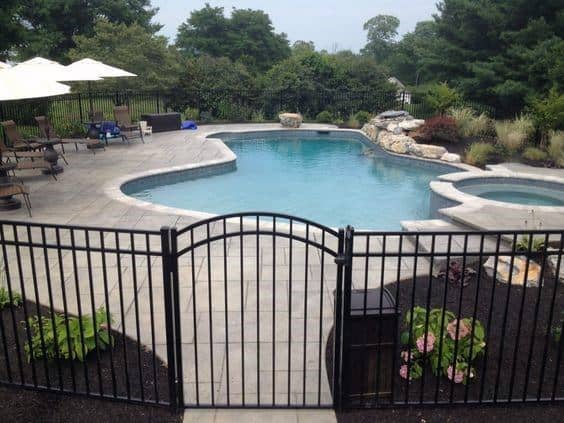 Wrough Iron Black Pool Fence