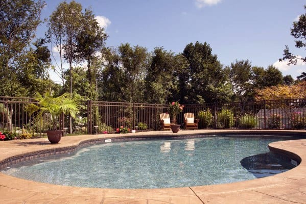 Wrough Iron Traditional Luxury Pool Fence