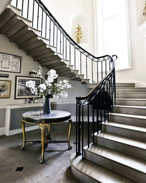 Wrought Iron Beautiful Staircase Railing Ideas