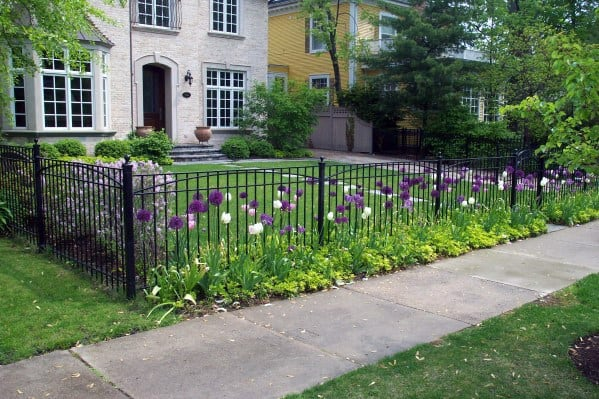Wrought Iron Black Front Yard Fence