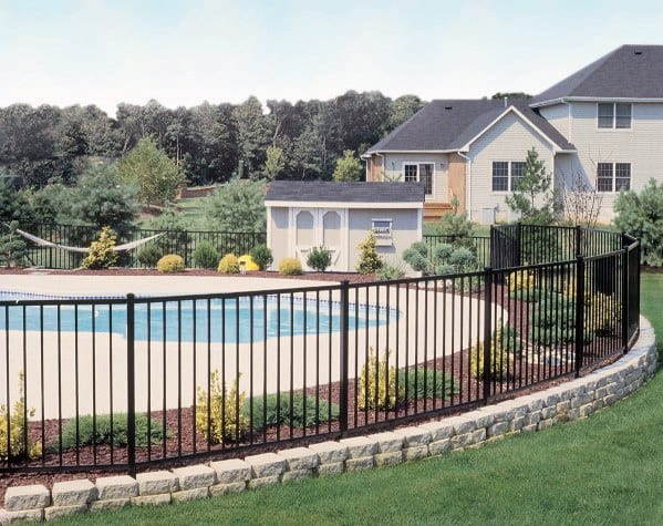 Wrought Iron Cool Pool Fence Design Ideas