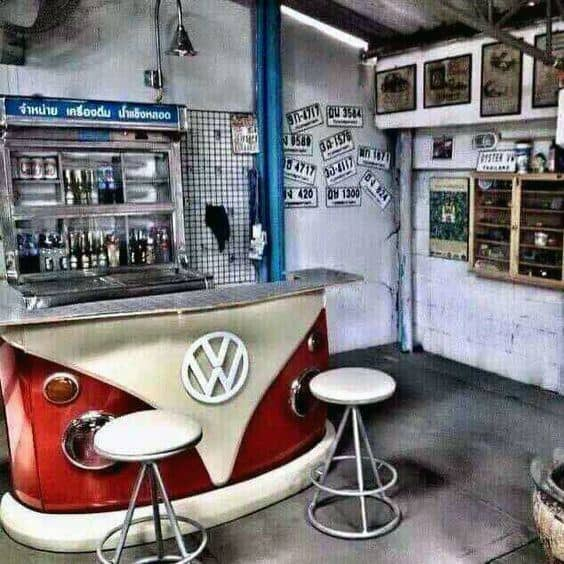 Wv Van With Bar Stools Garage Bar Ideas