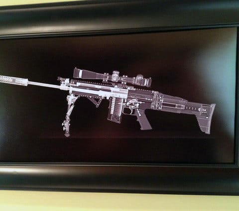 X Ray Scan Firearm Man Cave Decor Poster