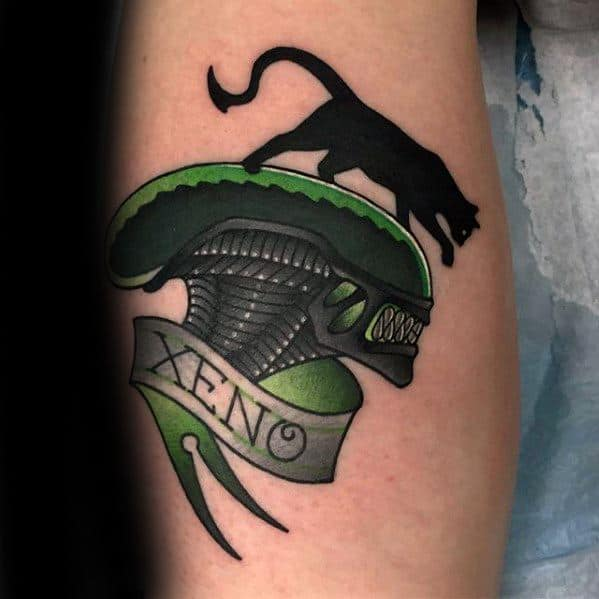 Xenomorph Guys Tattoo Ideas On Outer Forearm