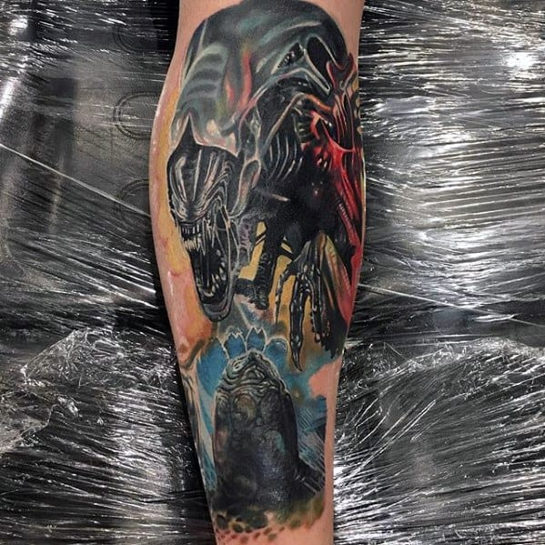 Xenomorph Mens Tattoo Designs