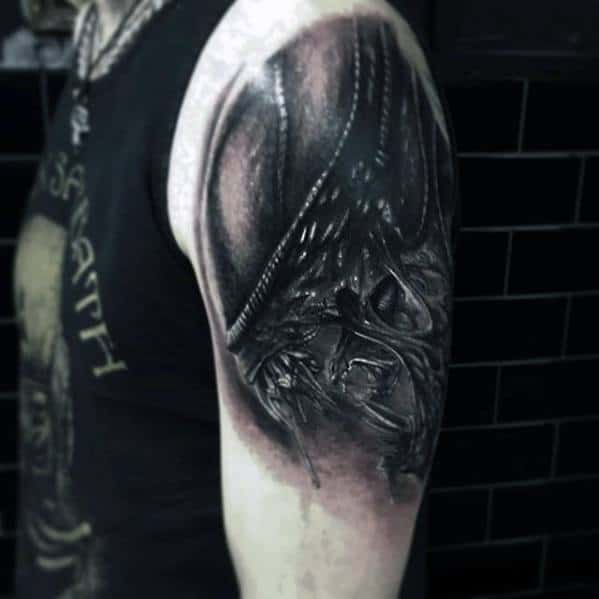 Xenomorph Mens Tattoo Ideas On Arm