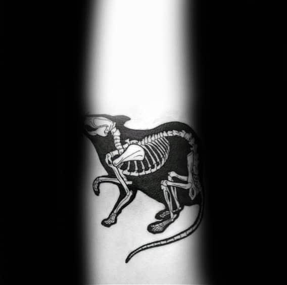 Xray Mens Small Rat Forearm Tattoos